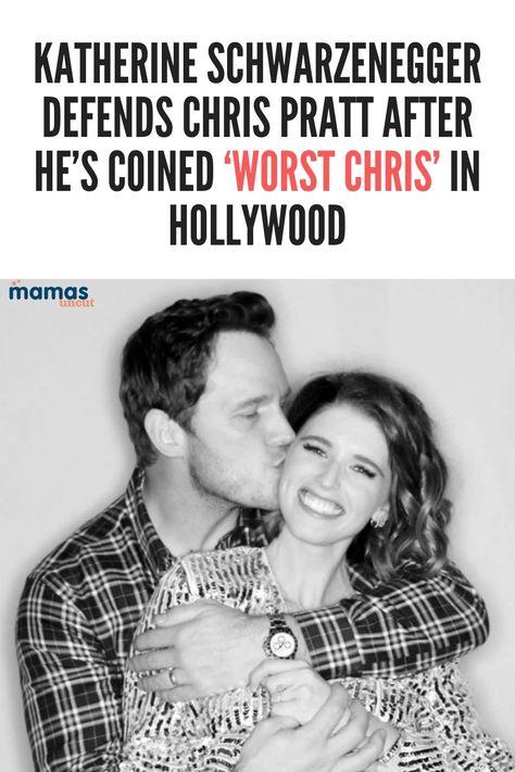 Katherine Schwarzenegger defended husband Chris Pratt after he was coined the worst Hollywood Chris. #KatherineSchwarzenegger #ChrisPratt