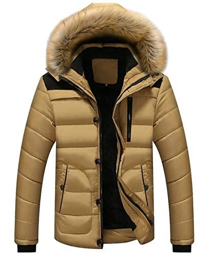 Gocgt Mens Winter Long Sleeve Down Jacket Outwear Puffer Coats