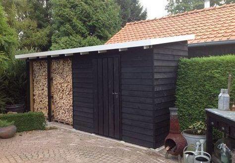 Holzlager Garten Holzhutte Garten Gartenhaus Schuppen Ideen