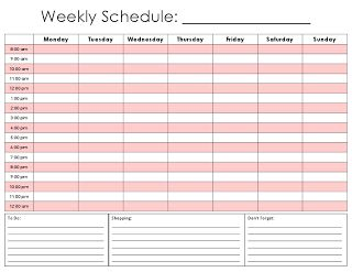 Free Printable Weekly Schedule  Weekly Schedule Template And