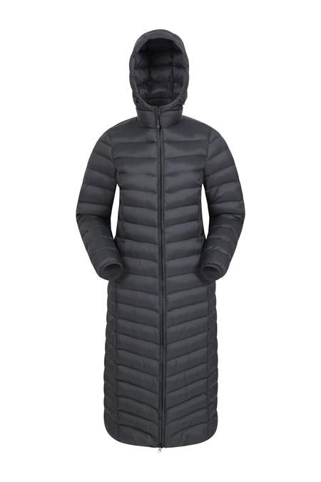 Mountain Warehouse Mens Long Down Padded Jacket Water Resistant Winter Coat