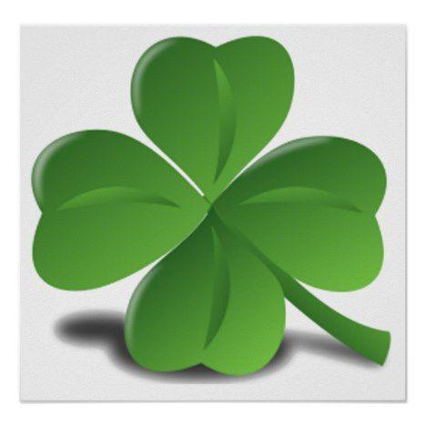 St Patrick S Day Shamrock Clover Poster Zazzle Com In 2021 Clover Leaf Clover Lucky Clover