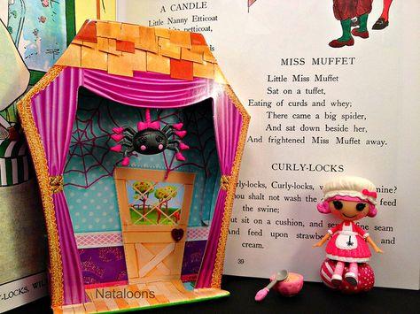 Sew cute and creative! Mini Lalaloopsy Tuffet Miss Muffet by Nataloons™, via Flickr #Lalaloopsy #Lalagraphy