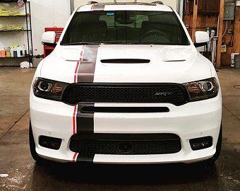 2 Color 6 Offset Rally Stripes Stripe Graphics Decals Etsy Rally Stripes Dodge Durango Car Stripes