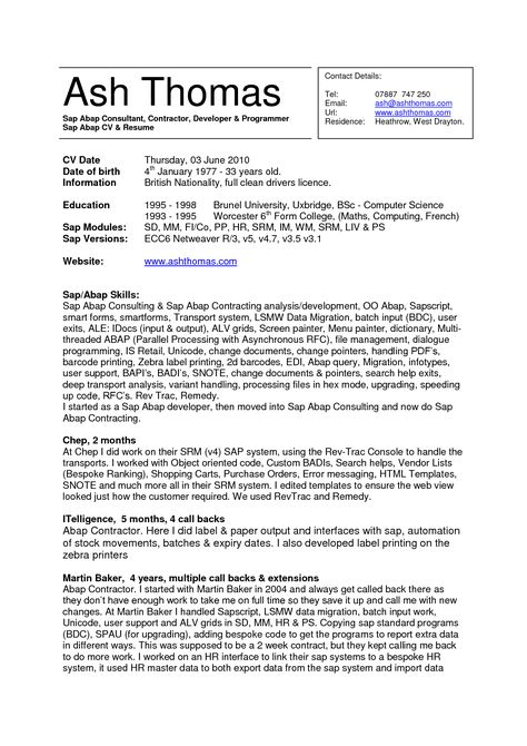 contractor resume sample roofer cover letter sap fico home sap fico resume sample - Sap Fico Resume Sample