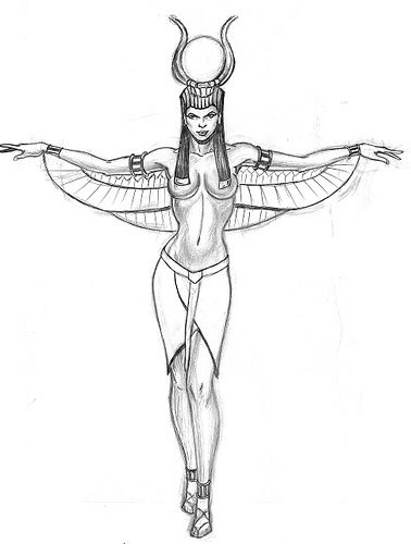 My next tattoo. This will be on my right side! Love Isis!
