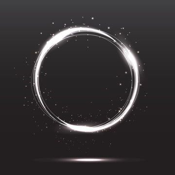 Silver White Neon Light Circle Frame With Glitter Light Circle Glitter Png And Vector With Transparent Background For Free Download Circle Light Circle Frames Circle