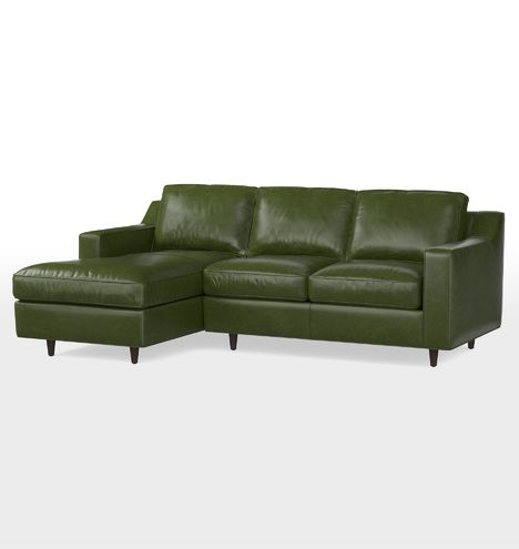 Garrison Small Chaise Sectional Leather Sofa Leather Sofa Small Sectional Sofa Sofa