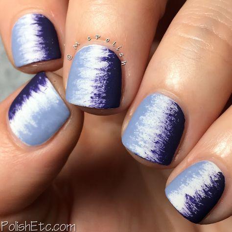 Purple fan brush mani - #31DC2016Weekly - McPolish - P2 Cosmetics