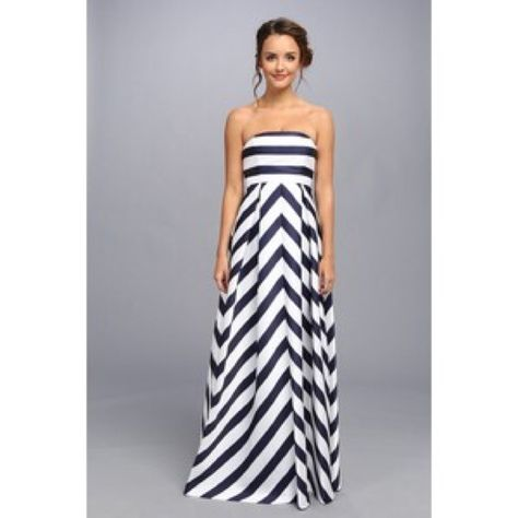 "Jessica Simpson Maternity Chevron Maxi Dress Adorable and highly coveted chevron maternity dress by Jessica Simpson. Navy and white chevron with removable spaghetti straps. My dress has been hemmed for length and will fit if you are 5'6"" or shorter. Jessica Simpson Dresses Maxi"