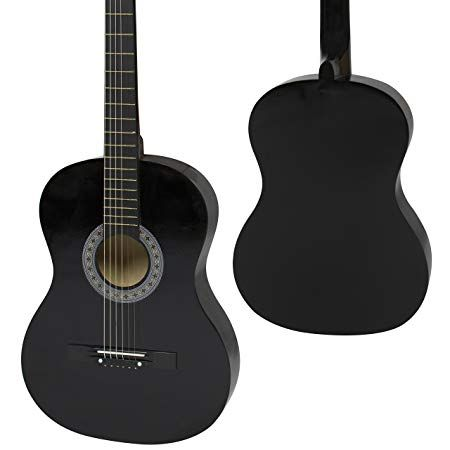 Amazon Com Best Choice Products 38in Beginner Acoustic Guitar Bundle Kit W Case Strap Digital E Tuner Pick Guitar Beginner Electric Guitar Acoustic Guitar