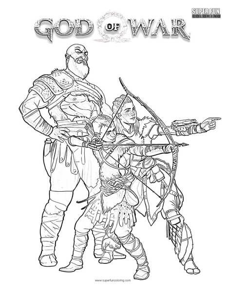 God Of War Coloring Page Super Fun Coloring Pages Pinterest