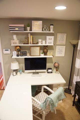 My New Ikea Desk The Little Green Bean Home Office Design Home Office Furniture Home Office Decor