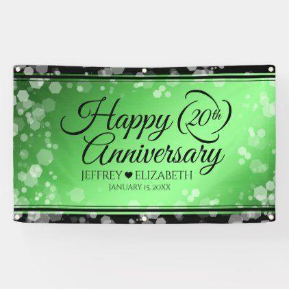 Elegant 20th Emerald Wedding Anniversary Banner Zazzle Com 20th Anniversary 20th Annive In 2020 Anniversary Banner Emerald Wedding Anniversary Emerald Wedding
