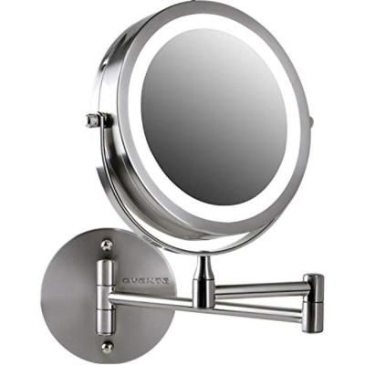 Ovente 7 In Led Ring Light Wall Mount Mirror With Battery Operated In 2020 Makeup Mirror With Lights Wall Mounted Makeup Mirror Mirror With Lights
