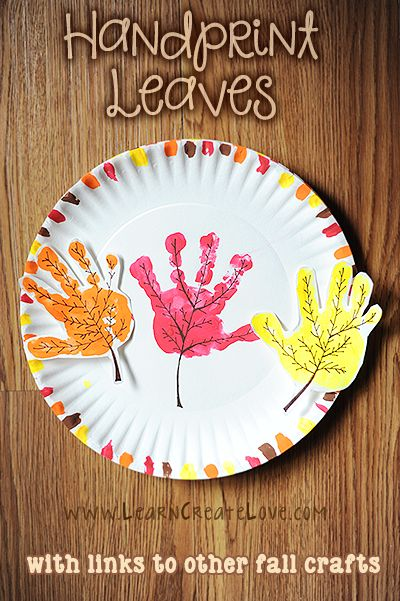 Handprint Fall Leaves Craft - Fall Crafts For Kids Fall Arts And Crafts, Easy Fall Crafts, Daycare Crafts, Classroom Crafts, Fall Crafts For Toddlers, Fall Art Preschool, October Preschool Crafts, Toddler Thanksgiving Crafts, Kids Diy