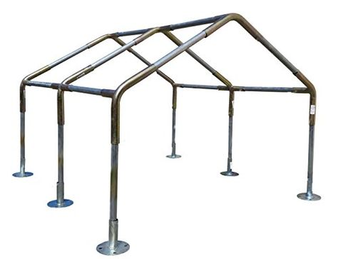 Carports 12x20 Heavy Duty 138 Carport Canopy Kit Silver Tarp No Legsroof Pipesfoot Pads Yo Carport Canopy Diy Carport Woodworking Building Plans