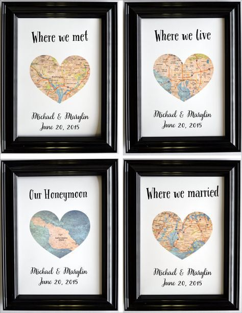 Custom anniversary gifts for couples recently married
