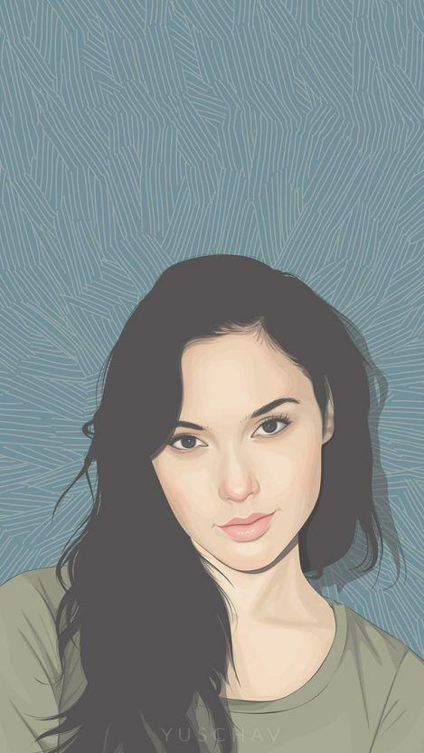 Gal Gadot Art Iphone Wallpaper Seni Selebritas Animasi