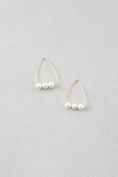 Elegante pendientes de perlas circonita señora ohrhänger Edel Ivory crema blanco Nuevo oro