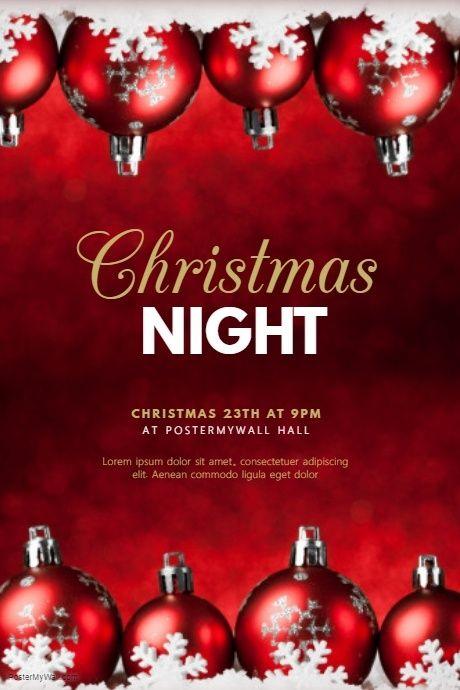 Christmas Flyers.Christmas Night Flyer Template Christmas Posters And