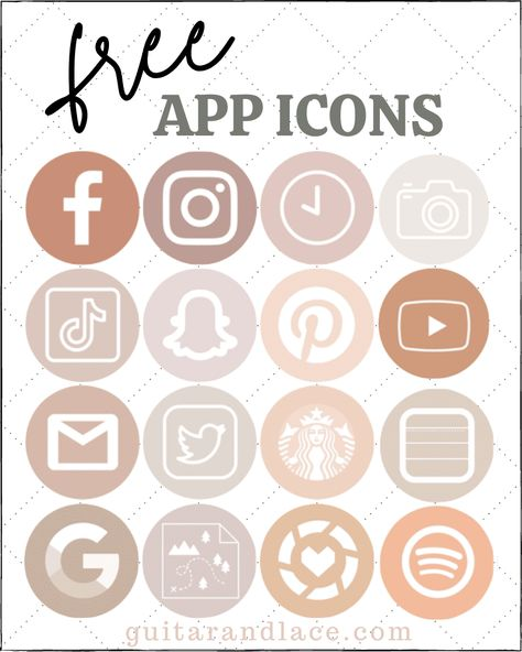 Free Aesthetic iPhone APP Icons