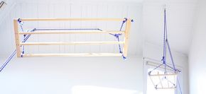 Awesome Diy Ceiling Mounted Clothes Drying Rack Red Brick