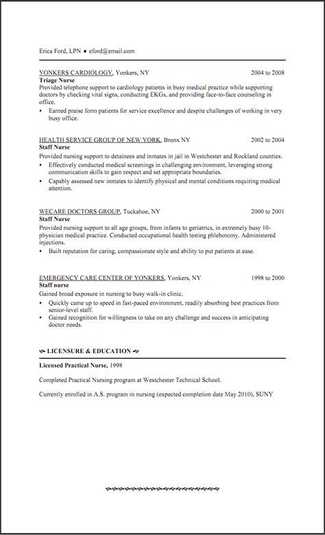 Pediatric Nurse Resume Objective -    wwwresumecareerinfo - lpn school nurse sample resume