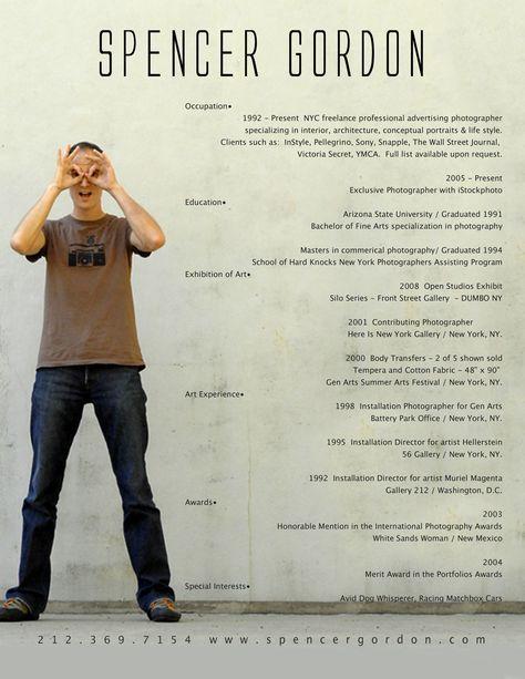 123 best Kreator CV images on Pinterest Resume, Resume examples - resume for photographer