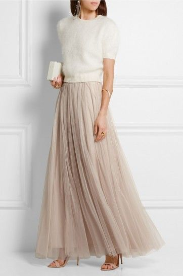 Wedding Guest Outfit Maxi Outfits Tulle Long Skirt Tulle Maxi Skirt