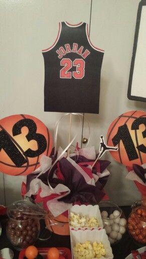... Michael Jordan Party Decorations Jordans Pinterest Michael Jordan  Jordan Baby Shower And Basketball Party