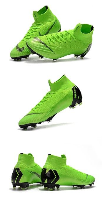 1fd2cf9ece Nike Mercurial Superfly VI 360 Elite FG Top Cleats - Green Black ...