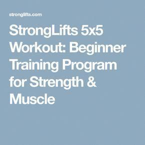 StrongLifts 5x5 Workout: Beginner Training Program for
