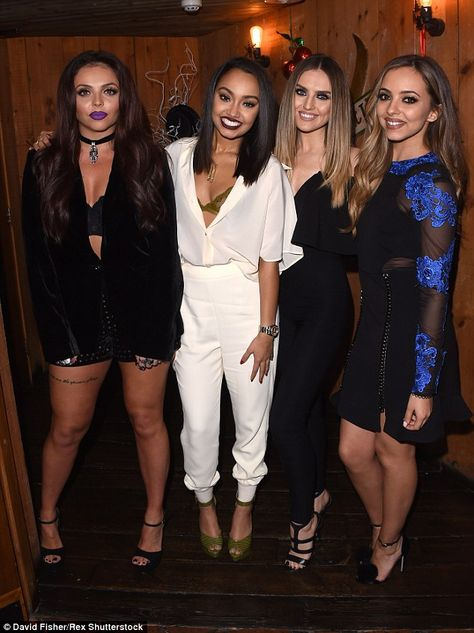 Little Minxes! Little Mix stars (L-R) Jesy Nelson, Leigh-Anne Pinnock, Perrie Edwards and .