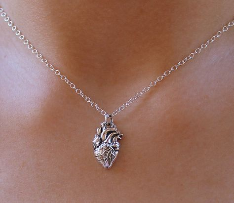 Heart Necklace Sterling Silver or Gold Fill by lisaloren on Etsy