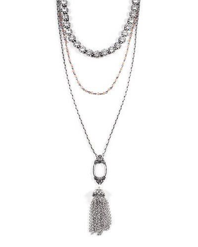Lulu Frost Lillet Long Layered Tassel Necklace 8CAbnGU