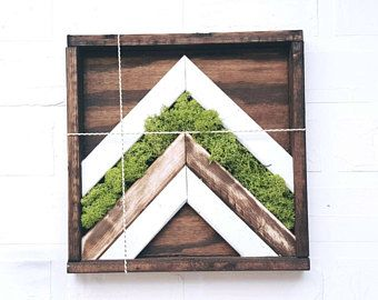 Wood Moss Wall Art X Moss Art X Geometric Wall Art X Reclaimed Wooden Wall Art Moss Wall Art Wooden Wall Art Wood Art