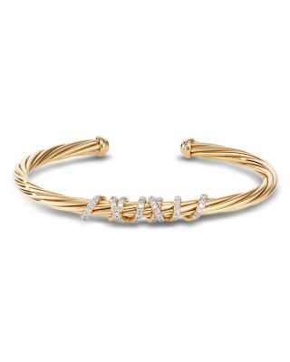 7.5 inches 18K Yellow Gold 0.28 cttw Round-Cut-Diamond IJ| SI identification-bracelets Size