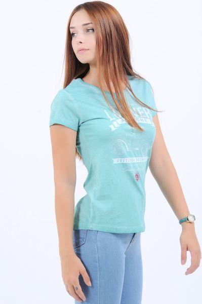 Bayan Tisort Lohner Baskili Turkuaz T Shirt Kisa Toptan Dugun Style Hamile Marjinal Giyim Kislik Etnik Butik Tasarim Muha Turkuaz Giyim Trendler