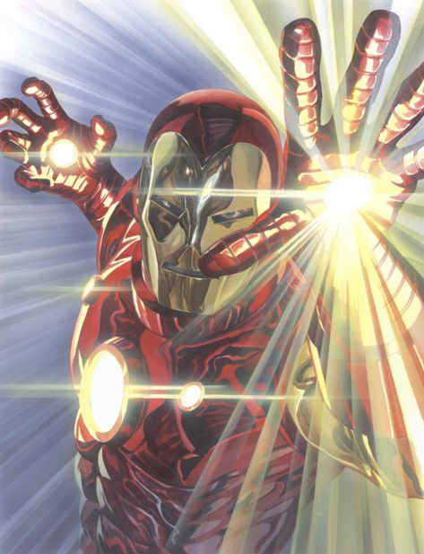Alex Ross SIGNED Marvelocity Iron Man Giclee on Canvas Limited Edition of 100