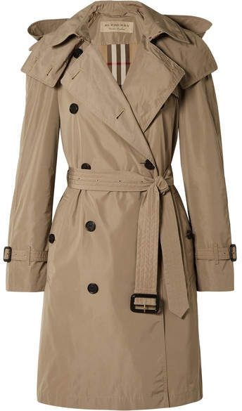 Burberry The Amberford Hooded Shell Trench Coat Mushroom Burberry Trench Coat Trench Coat Outfit Trench Coat