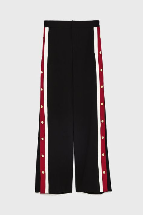 Zara delivers once again in the form of its pyjama-meets-tracksuit trousers.