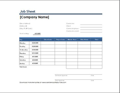 job sheet template Microsoft Templates Pinterest Template - office sign in sheet template