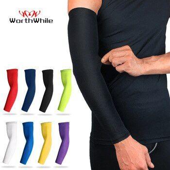 Sports Arm Sleeve Mangas Warmer Ice Fabric Summer UV Protection Running Basketba