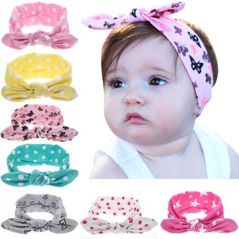 Cute Toddler Baby Girls Kids Pink Elastic Floral Headband Hair Hairband Headwear