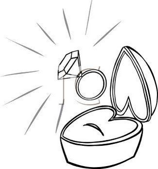 Diamond Ring In Box Clip Art Ring Sketch Clip Art Coloring Pages