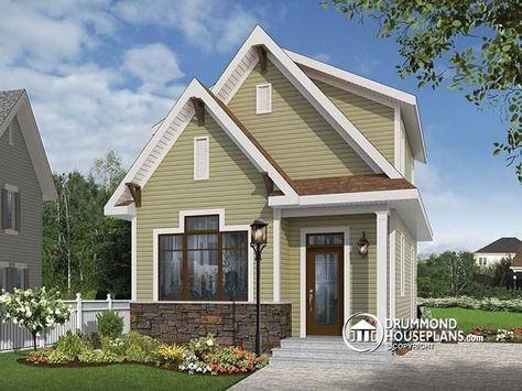 W1908 Country small and affordable starter home 2 to 3 bedrooms – Affordable Garage Plans