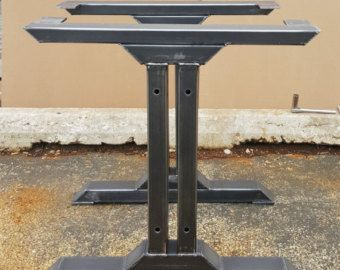 28 H x 28 W This listing is for set of 2 Steel Tubing Legs. - Made from Steel Tubing - 3 x 2 x 14 ga wall, Tubing…More