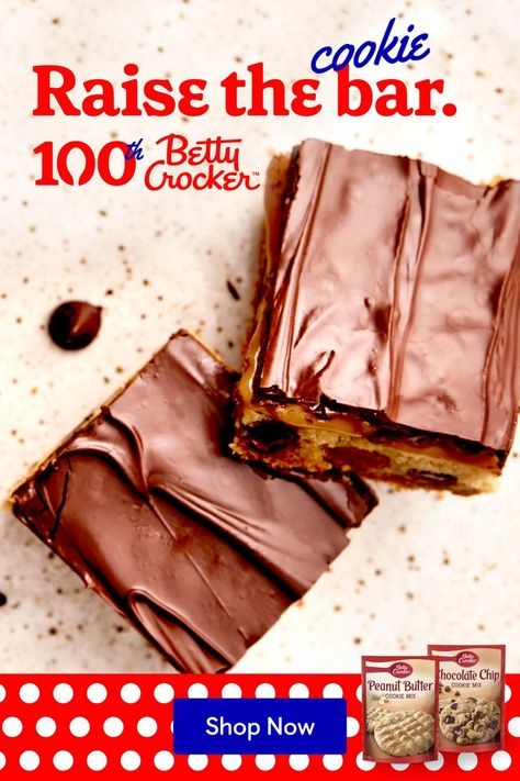 Look at you: A baking superstar whipping up hit after hit. Like these Chocolate Chip, Peanut Butter, Caramel Bars. Nothing can stop you now!