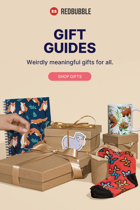 Gift guides can help. Find perfectly personal presents designed and sold by artists.